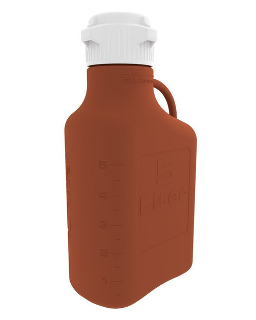 5L (1 Gal) Amber HDPE Carboy with 83mm Cap