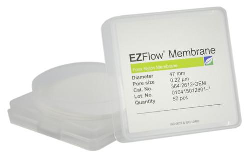 50 pack EZFlow® 47mm 0.2µm Nylon Membrane Disc Filter