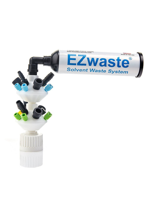 "EZWaste® UN/DOT Filter Kit, VersaCap® 38-430, 6 Ports for 1/8"" or 1/16"" OD Tubing, 3 Ports for 1/4"" OD Tubing, 3 Ports for 1/4"" HB or 3/8"" HB"