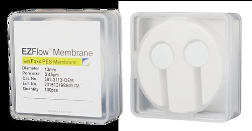 EZFlow Membrane Disc Filter, PES, 0.45µm, 13mm, Non-Sterile, 100/pk
