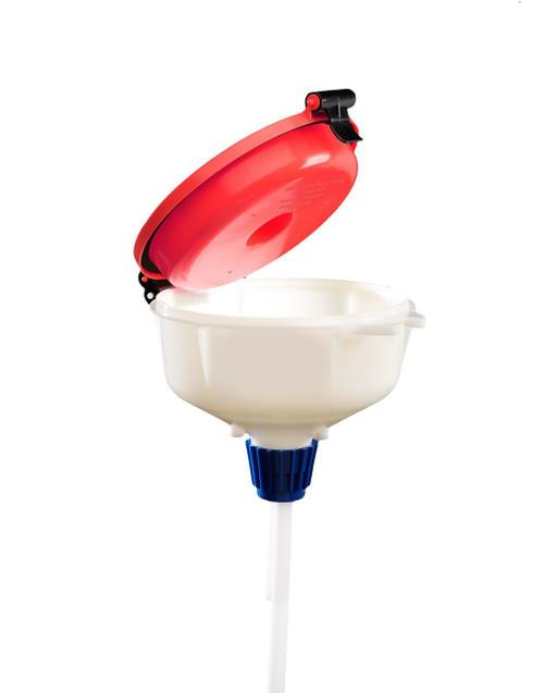 """EZwaste® 8"""" Safety Funnel, HDPE, VersaCap 38-430"""