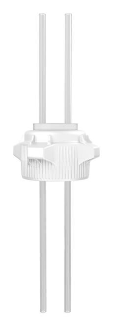 "Open Top VersaCap® 83mm with EZTop® System, Dual 1/4"" Tubes"