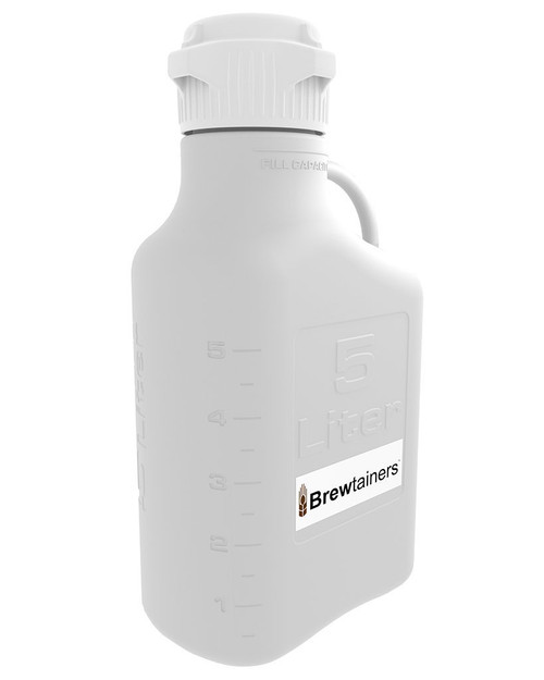 Brewtainers HDPE 5L (1.82 Gal Max) Homebrew Yeast Container with leakproof Tight Sealed 83mm Cap