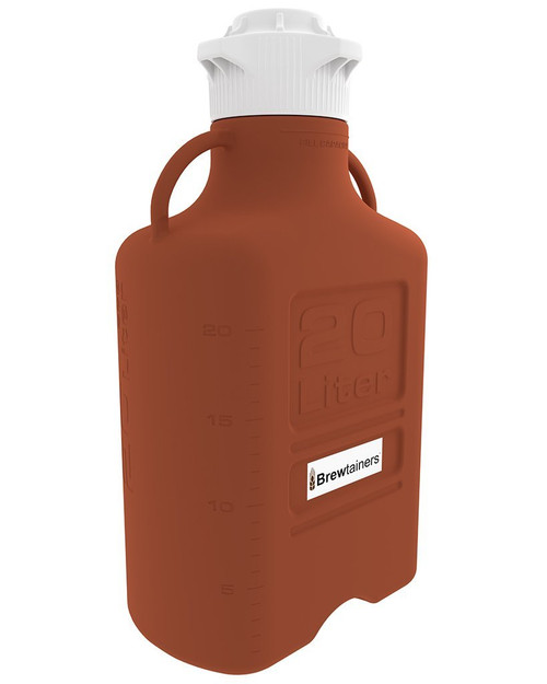 Brewtainers HDPE Amber Light Blocking 20L (7 Gal Max) Homebrew Yeast Container with leakproof  Tight Sealed 120mm Cap