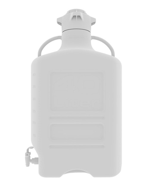 40L (10 Gal) HDPE Carboy with 120mm Cap and Spigot
