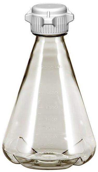6/case 2L EZclear® Baffled Erlenmeyer Flask w/ 53mm VersaCap®, Sterile