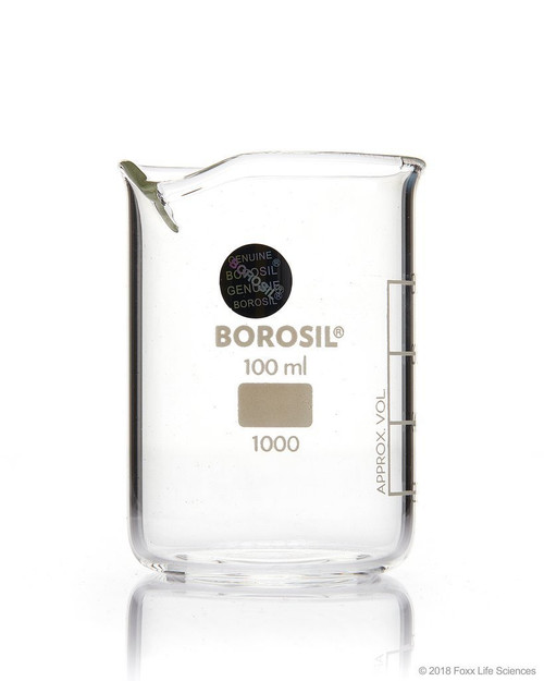Borosil Low Form Griffin Beaker with Spout 150 mL ISO3824 Borosilicate