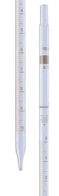 Borosil® Pipettes, Measuring (Mohr), Class A, 0.2mL x 0.01mL, Individual Cert, CS/10