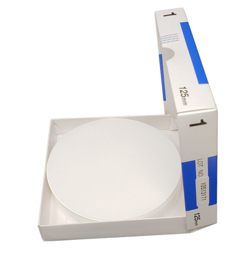 "Advantec MFS N0112.5CM Qualitative Filter Paper, No. 1, 0.20 mm Thickness, 125"" Length (Pack of 100)"