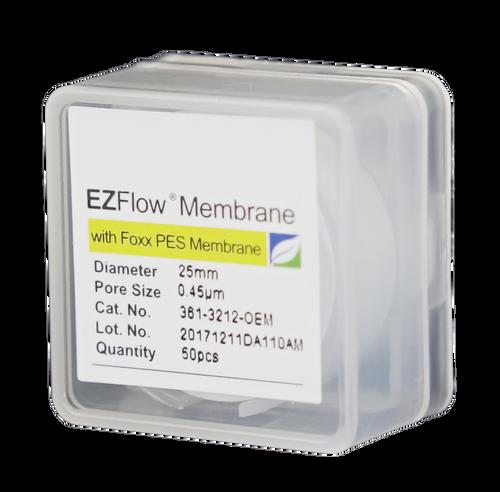 EZFlow Membrane Disc Filter, PES, 0.45µm, 25mm, Non-Sterile, 50/pk