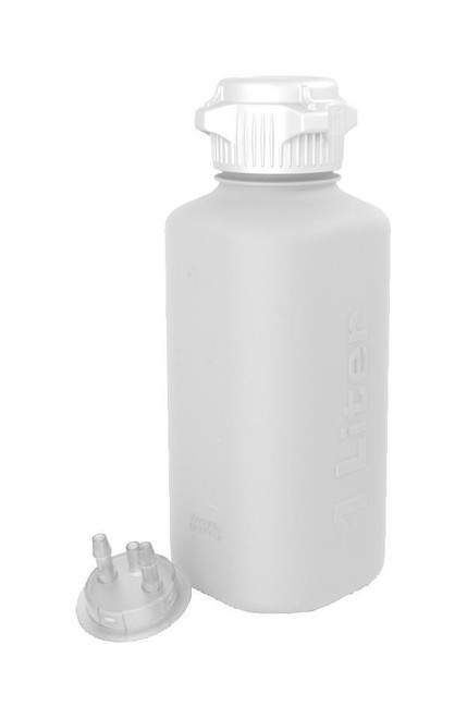 """1L HDPE Heavy Duty Vacuum Bottle, with 1/4"""" Hose Barb Adapter"""