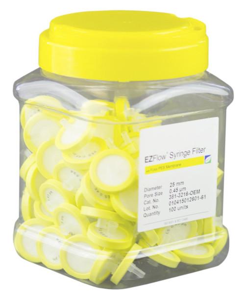EZFlow® 25mm Syringe Filter, .45?m PES, 100/pack