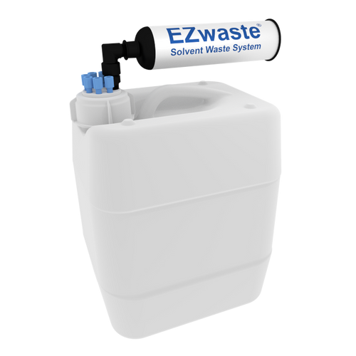 """EZWaste® UN/DOT Filter Kit, VersaCap® 51S, 6 ports for 1/16"""" OD Tubing with 10L Container"""