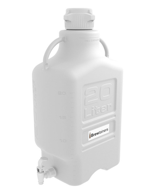 Brewtainers HDPE 20L (7 Gal Max) Homebrew Yeast Spigoted Despensing Container with leakproof  Tight Sealed 83mm Cap
