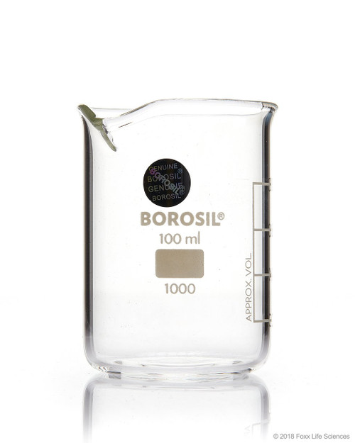 Borosil® Beakers, Low-Form, with Spouts, 150mL, 40/CS