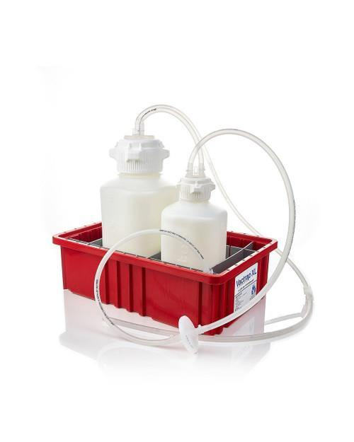 "Vactrap™ XL, PP (Autoclavable), 4L + 2L, Red Bin, 1/4"" ID Tubing"