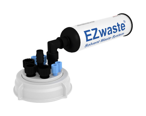 """EZWaste® UN/DOT Filter Kit, VersaCap® S70, 4 ports for 1/8"""" OD Tubing, 4 port for 1/4"""" HB or 4 port for 3/8"""" HB and One Exhaust Filter, w/ Plugs"""