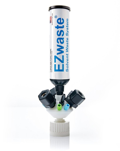 "EZWaste® UN/DOT Filter Kit, VersaCap® GL45, 6 Ports for 1/8"" or 1/16"" OD Tubing, 3 Ports for 1/4"" OD Tubing, 3 Ports for 1/4"" HB or 3/8"" HB"