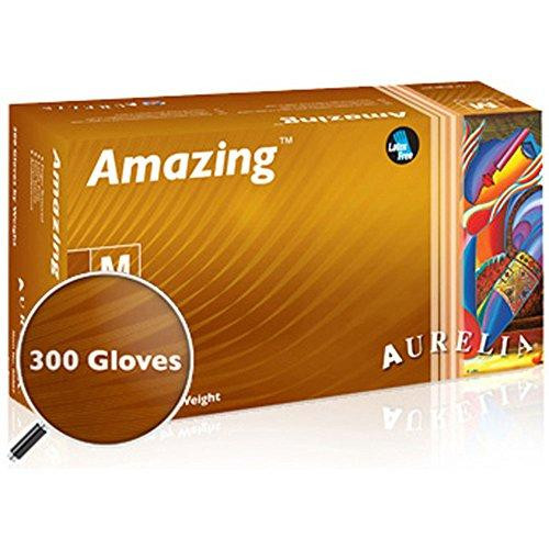 Aurelia Amazing Nitrile Glove, Exam, Powder Free, 2.0 Mil Thick, Violet Color, (Box of 300)