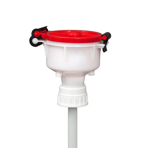 """EZwaste® 4"""" Safety Funnel, HDPE, VersaCap 53B"""