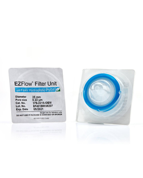 EZFlow® 25mm Sterile Syringe Filter, .2?m Hydrophilic PVDF, 100/pack