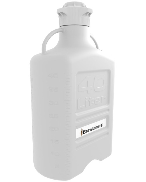 Brewtainers HDPE 40L (13.05 Gal Max) Homebrew Yeast Container with leakproof Tight Sealed 120mm Cap