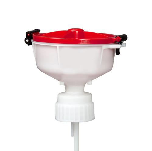"""EZwaste® 8"""" Safety Funnel, HDPE, VersaCap 83B"""