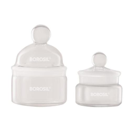 Borosil® Bottles, Weighing, Low Form, 20mL, 50mm x 35mm (OD x H), CS/10