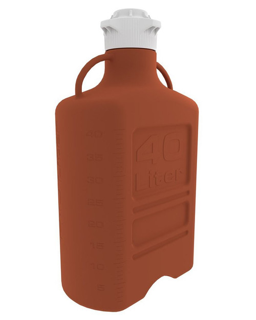 40L (10 Gal) Amber HDPE Carboy with 120mm Cap