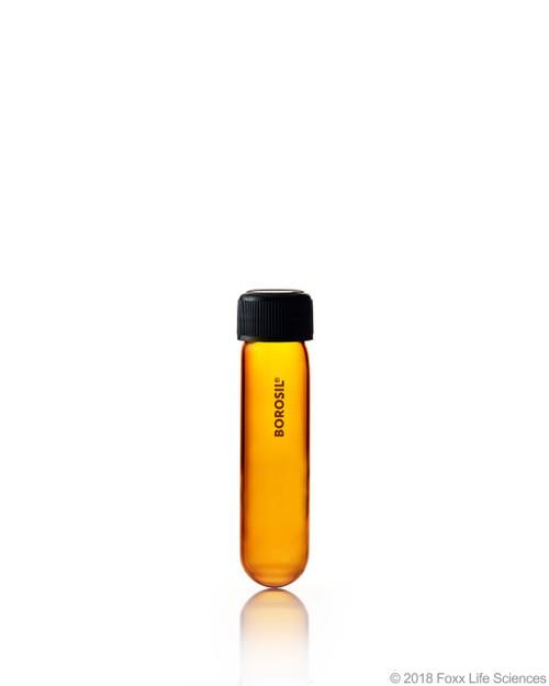 Amber Culture Tubes Media Round Bottom PP cap with Liner 30 mL Borosilicate CS/100