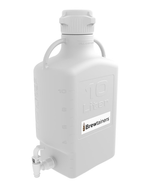 Brewtainers HDPE 10L (3.44 Gal Max) Homebrew Yeast Spigoted Despensing Container with leakproof Tight Sealed 83mm Cap