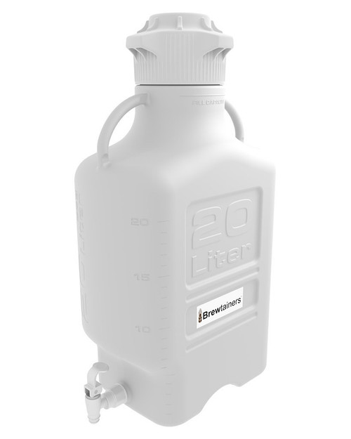 Brewtainers HDPE 20L (7 Gal Max) Homebrew Yeast Spigoted Despensing Container with leakproof  Tight Sealed 120mm Cap