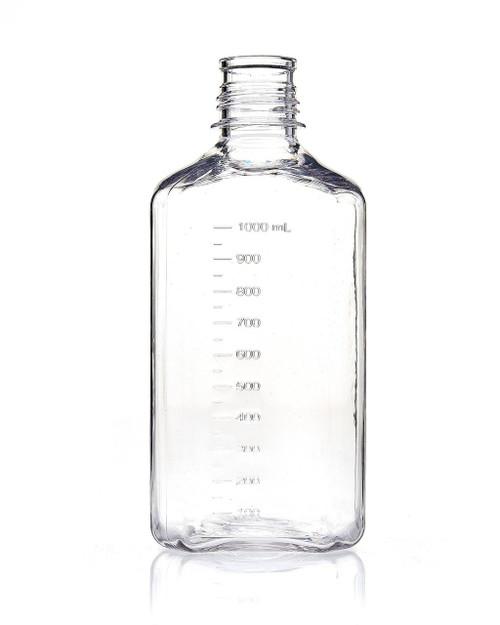 EZBio® Bottle, PETG, Non-Sterile, 1L, No Cap, pk/12