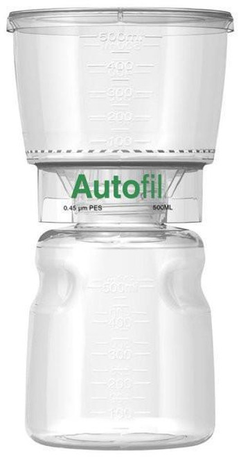 Autofil® 500ml  0.45μm Bottle Top Filter PES , Full Assembly 12/case