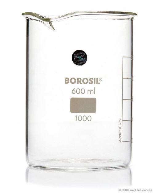 Borosil Low Form Griffin Beaker with Spout 10000 mL ISO3834 Borosilicate