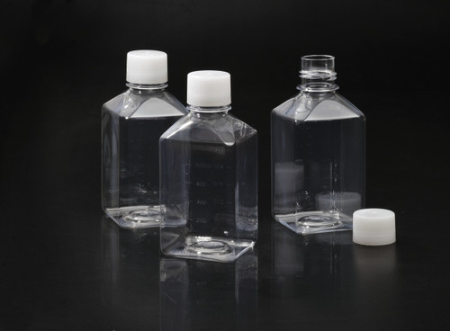 SPL 1000 ml Square Media Bottle (Polyethylene) for Media, serum Bottling or Casual (12 x Pack) (STERILE) DNase/RNase Free, Human DNA Free,Non pyrogenic, Non cytotoxic