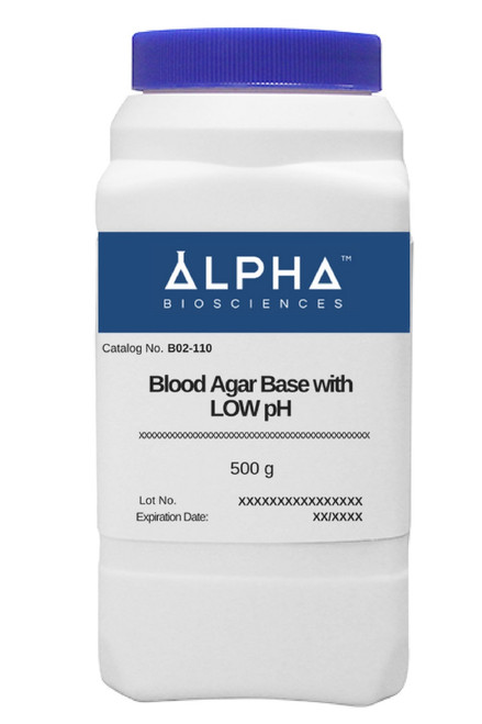 BLOOD AGAR BASE with LOW PH (B02-110)
