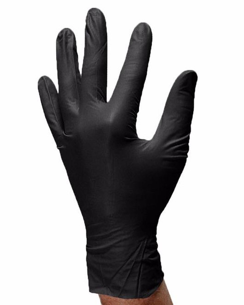 Aurelia Bold Black Nitrile Powder Free 5 Mil Disposable Gloves