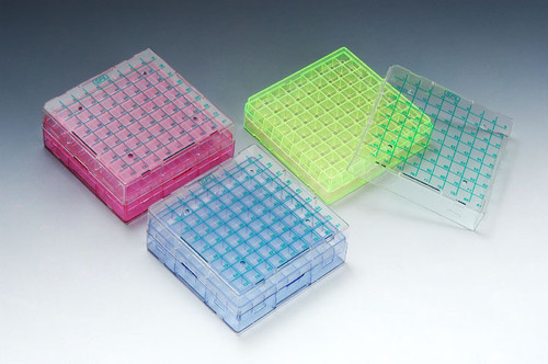 SPL Cryo Box Rack with lid, 81 Well 3 Colors
