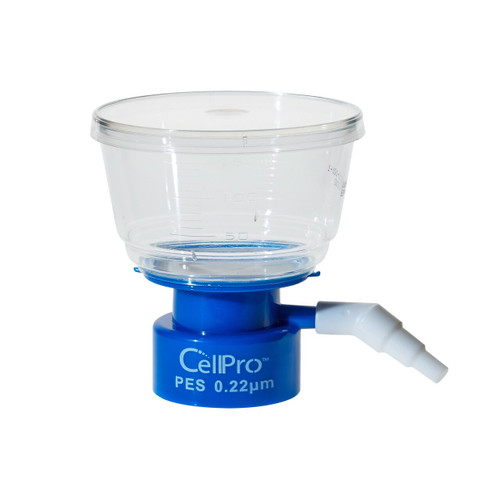 CellPro 150mL Bottle Top Filter, PES Filter Material, 0.45μm, 50mm, Sterile 1/Bag, 24/CS