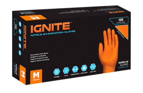 Ignite Nitrile Glove Heavy Duty