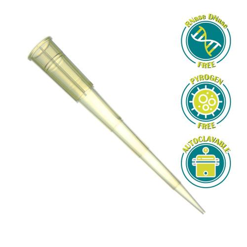 SPL 200 ul Universal Pipette Tips in Rack, Yellow, DNase/RNase Free 10 Rack of 96 Tips (960 Tips)