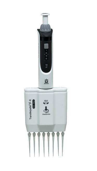 Transferpette S Multichannel Pipette 8 Channels Adjustable Volume Pipettor, 0.5-10uL