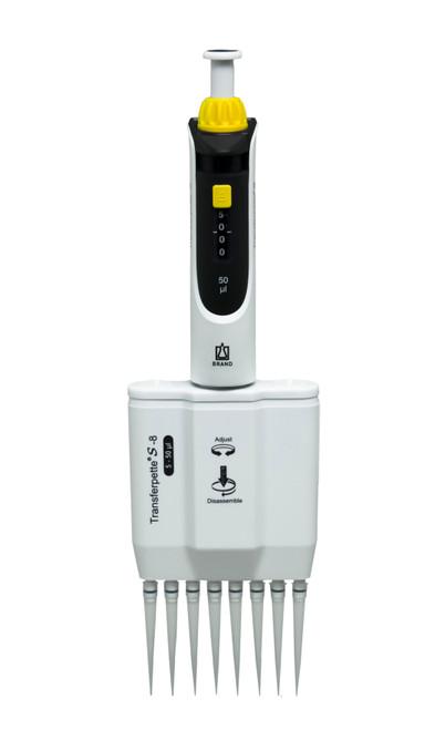 Transferpette S Multichannel Pipette 8 Channels Adjustable Volume Pipettor,5-50uL