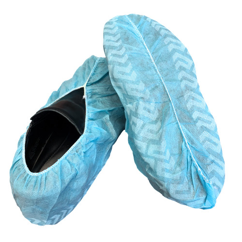 High-Tech Shoe Covers Polypropylene Non-Skid. Blue. Size: X-Large. 300 PCS/Case