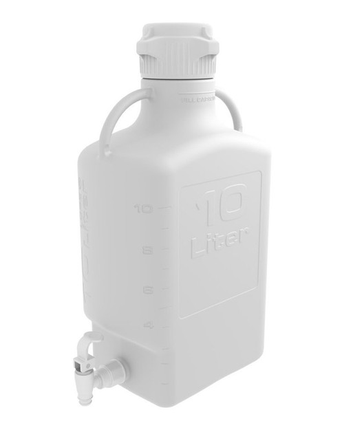 10L (2.5 Gal) HDPE Carboy with 83mm Cap and Spigot