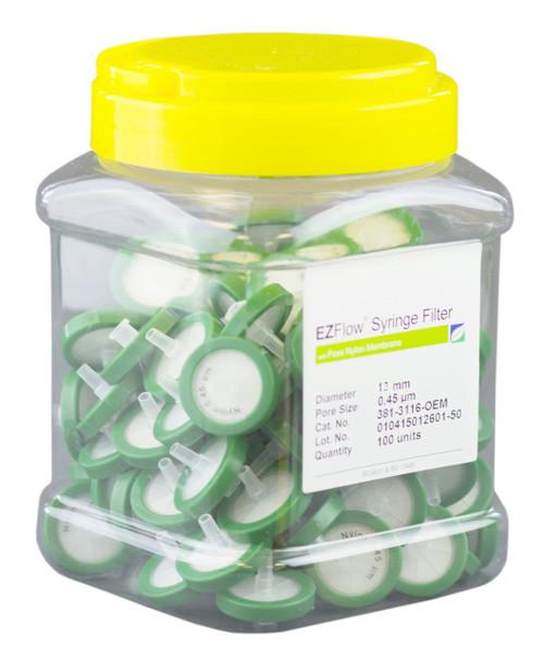 EZFlow 13 mm Syringe Filter, .45 um PES, 100/pack
