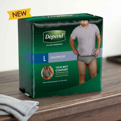 Depend Fit Flex Men's Underwear Maximum