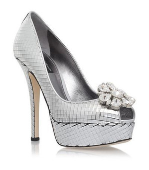 Dolce & Gabbana mirrored platform pumps