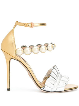 Gold Silver Leather Febe Night Sandal